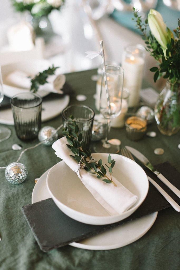 Tischdeko Silvester Brunch