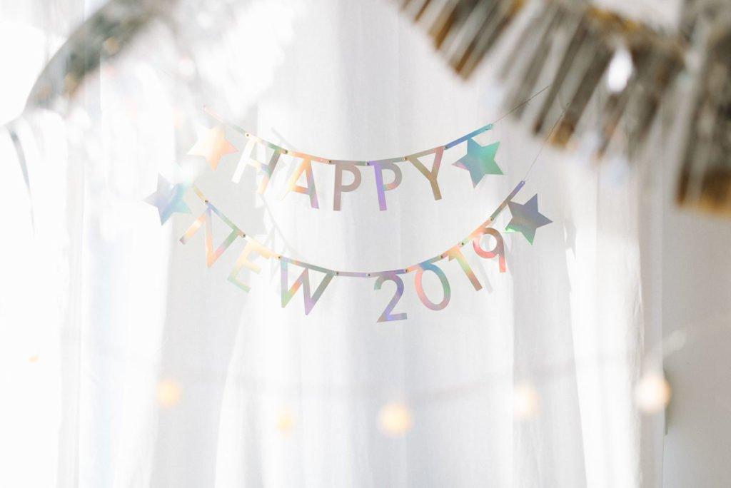 Happy New Year irisierend