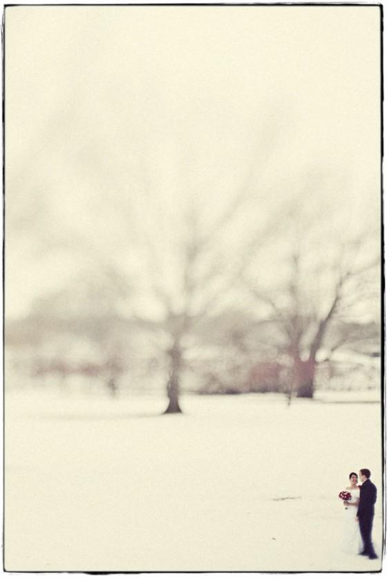 Sonntagshäppchen: Schneeweiße Hochzeitsfotos