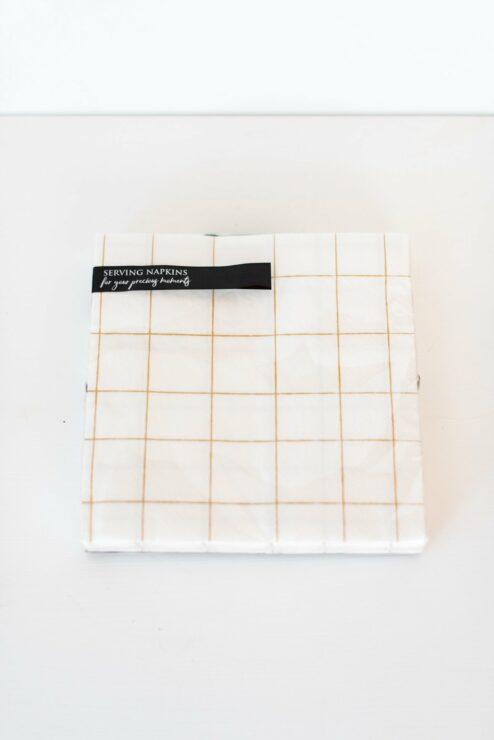 Papierserviette Grid Gold