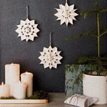 Bastelset für 3 kleine Sterne aus Papiertüten