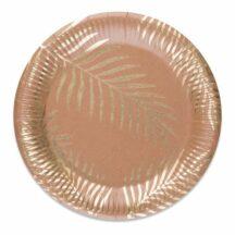 Pappteller mit goldenem Palmenblatt Aufdruck
