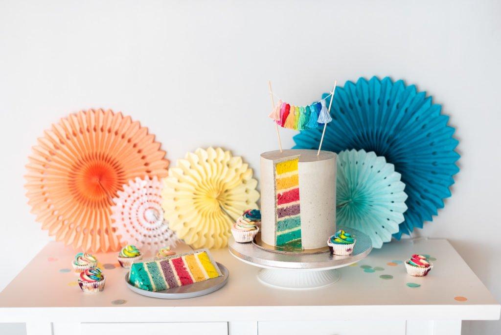 Regenbogen Cake Topper