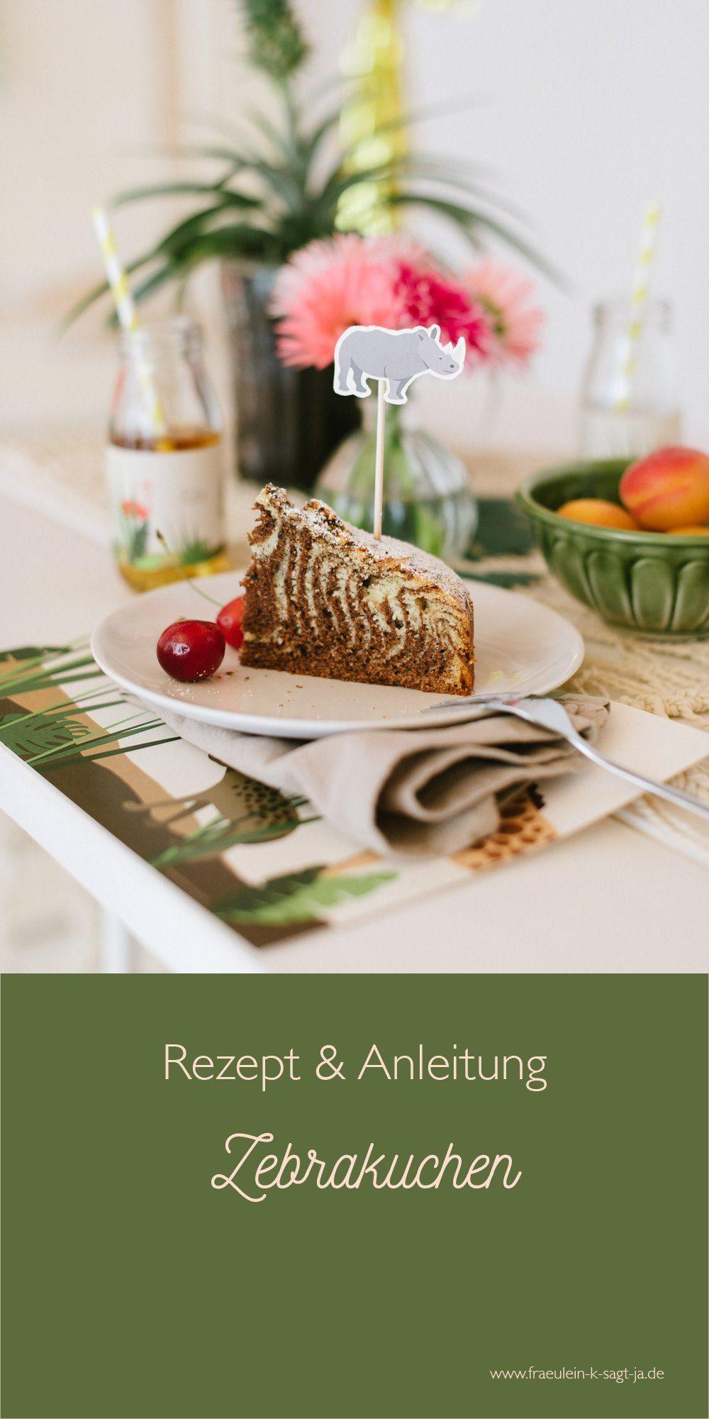Rezept und Anleitung für einen Zebrakuchen