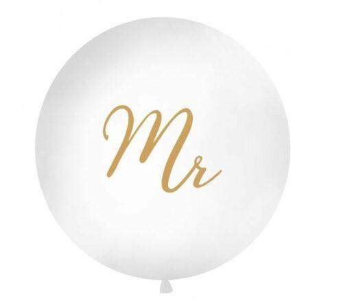 Riesenluftballon mit goldenem 'Mr' Aufdruck