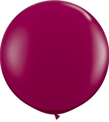 Riesenluftballon, Durchmesser 1m in der Farbe Burgunder