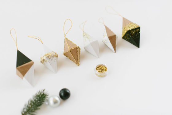 DIY Weihnachtsgeschenk: Diamanten Mobilé