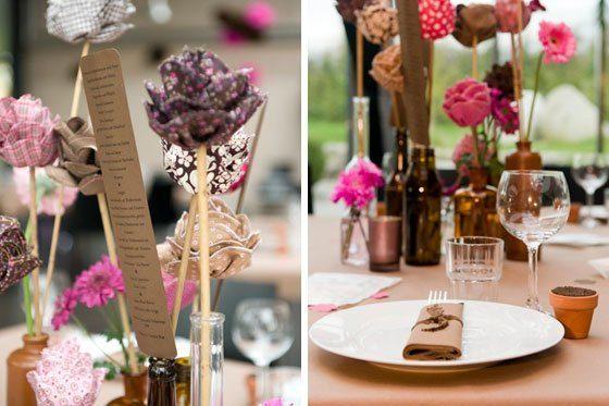 Pink liebt Braun – eine echte DIY Hochzeit