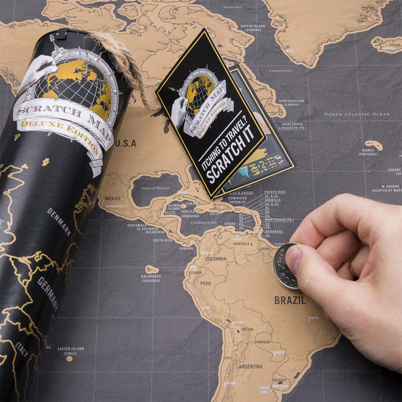 Weltkarten zum Auskratzen der Länder, die man schon besucht hat