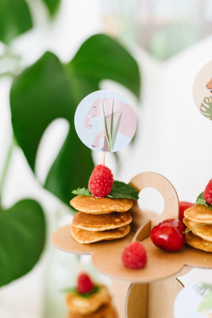 Torte, Pancakes Kindergeburtstag Safari