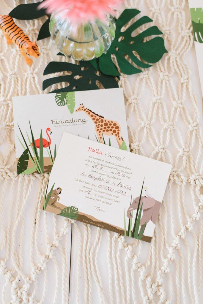 Einladung Kindergeburtstag Safari Dschungel