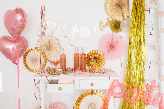 Party in Gold Rosa Pink