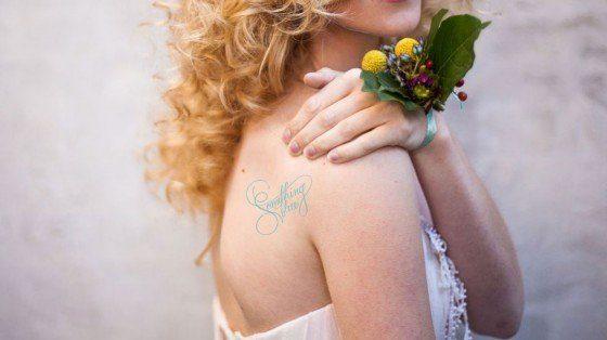 Temporäres Tattoos für Bräute