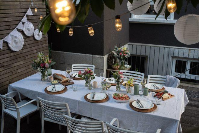 Sommer Garten Dinner Frl K sagt Ja Blumenstrauss