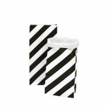 Stehbodenbeutel Streifen diagonal Größe M