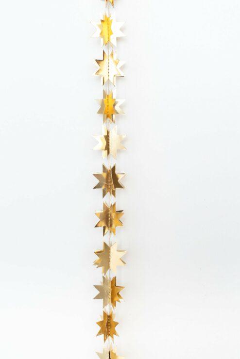 Girlande Sterne Gold, Länge 1,5 Meter