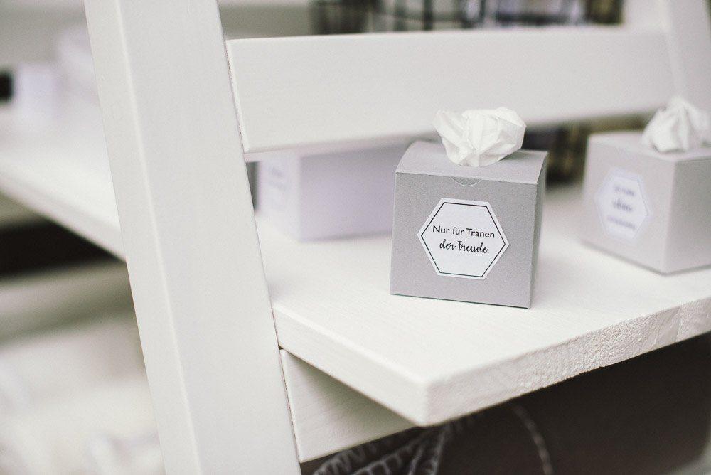 Taschentuecher Box Hochzeit