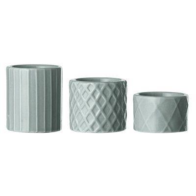 Teelichthalter Votive (3er Set) aus Porzellan