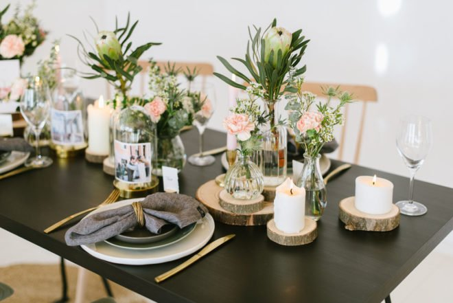 Tischdekoration Hochzeit Urban modern