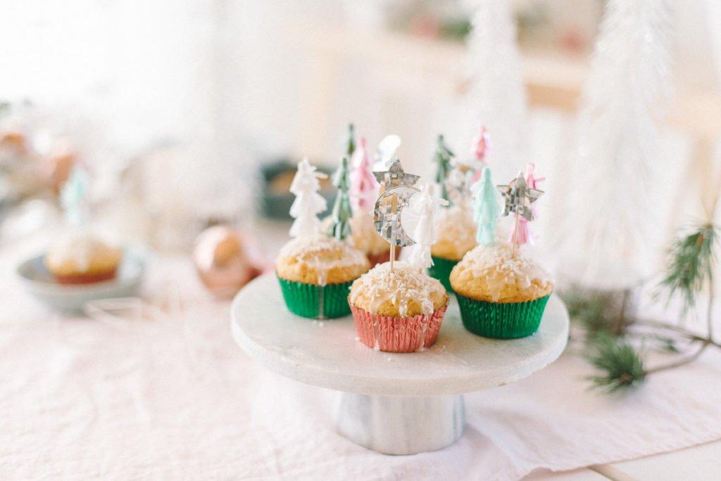 Muffins mit Tannenbäumchen