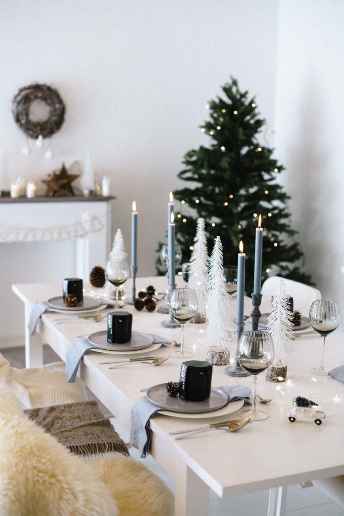 Weihnachtsdeko In Silber Und Weiß.Winterwald Funkelnd Weiße Weihnachtsdeko Neu Im Shop