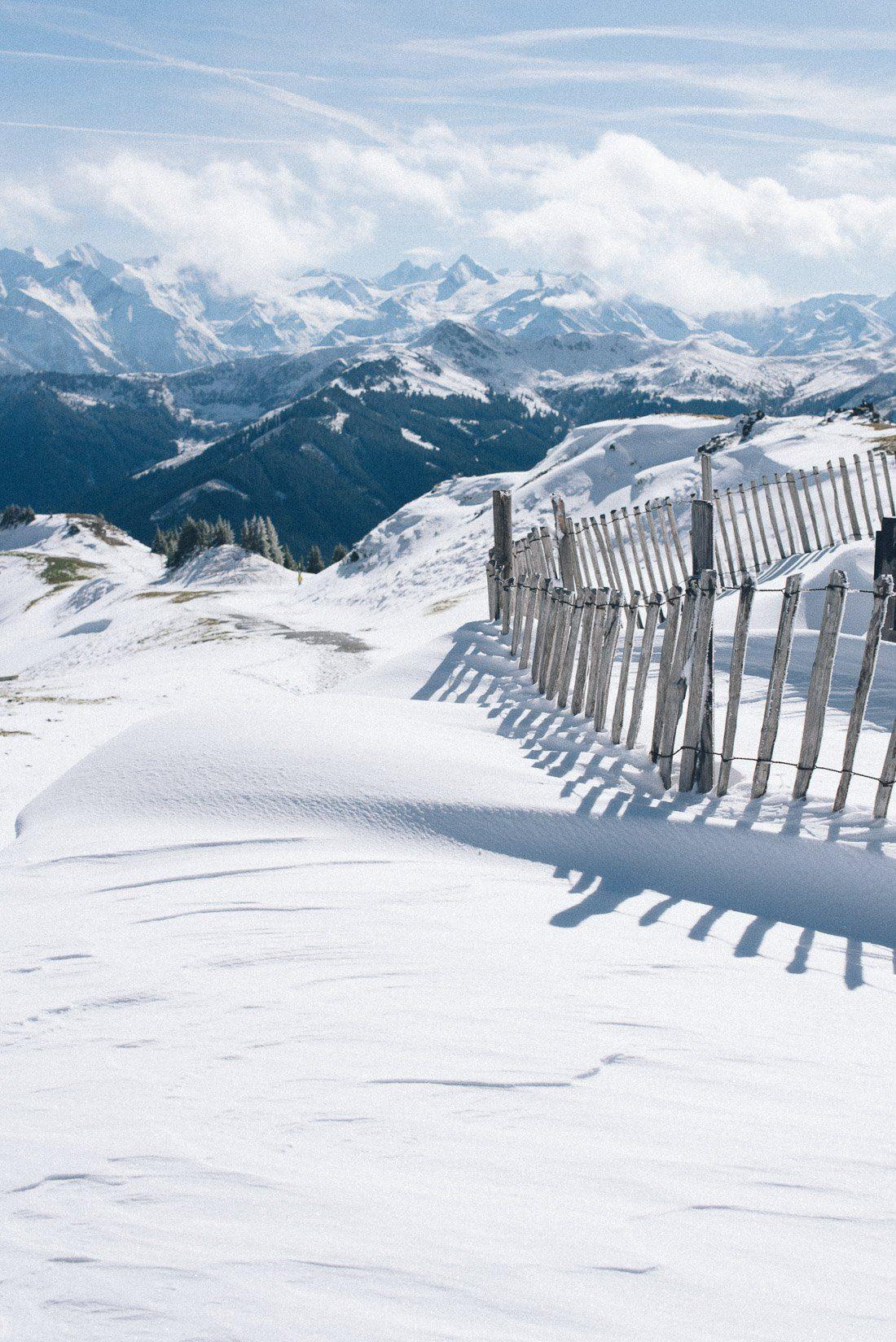 Verschneite Berge in Salbach Hinterglemm