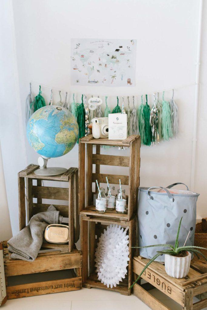 Dekoration Kindergeburtstag Motto Weltreise