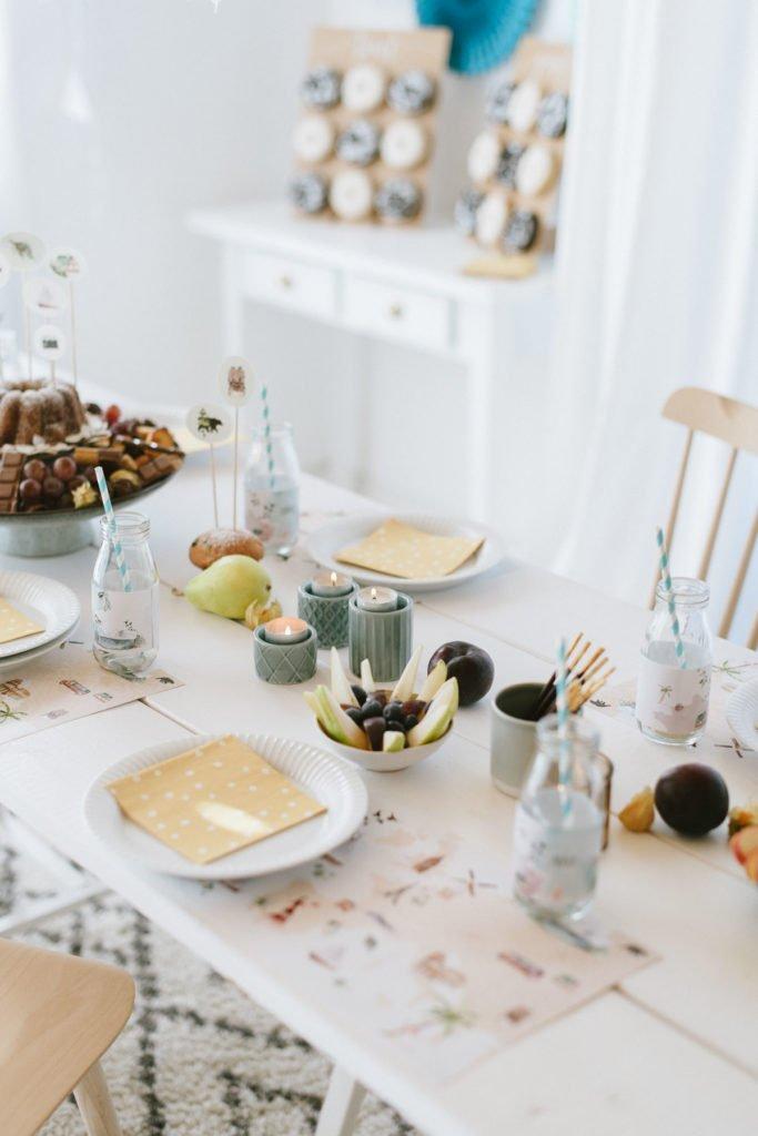 Tischdekoration Kindergeburtstag Motto Weltreise