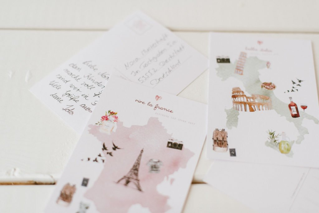 Postkarte Weltreise