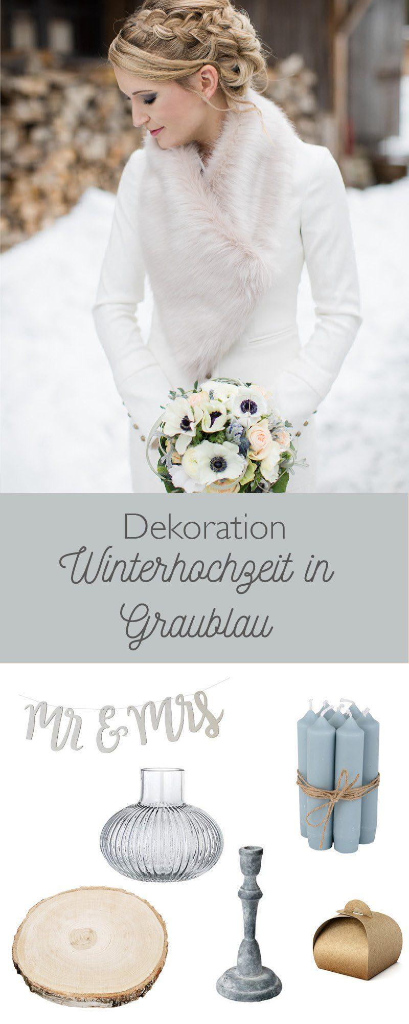Wunderbare winterhochzeit in graublau im hasen hrl hof fr ulein k sagt ja hochzeitsblog - Dekoration winterhochzeit ...