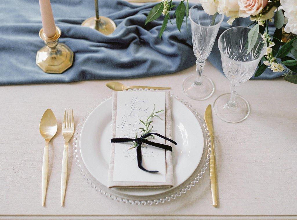 Winterhochzeit Tisch Dekoration